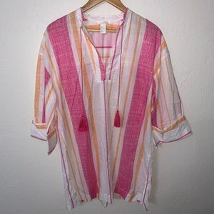 H&M Striped Tunic Style Swim Cover Up.